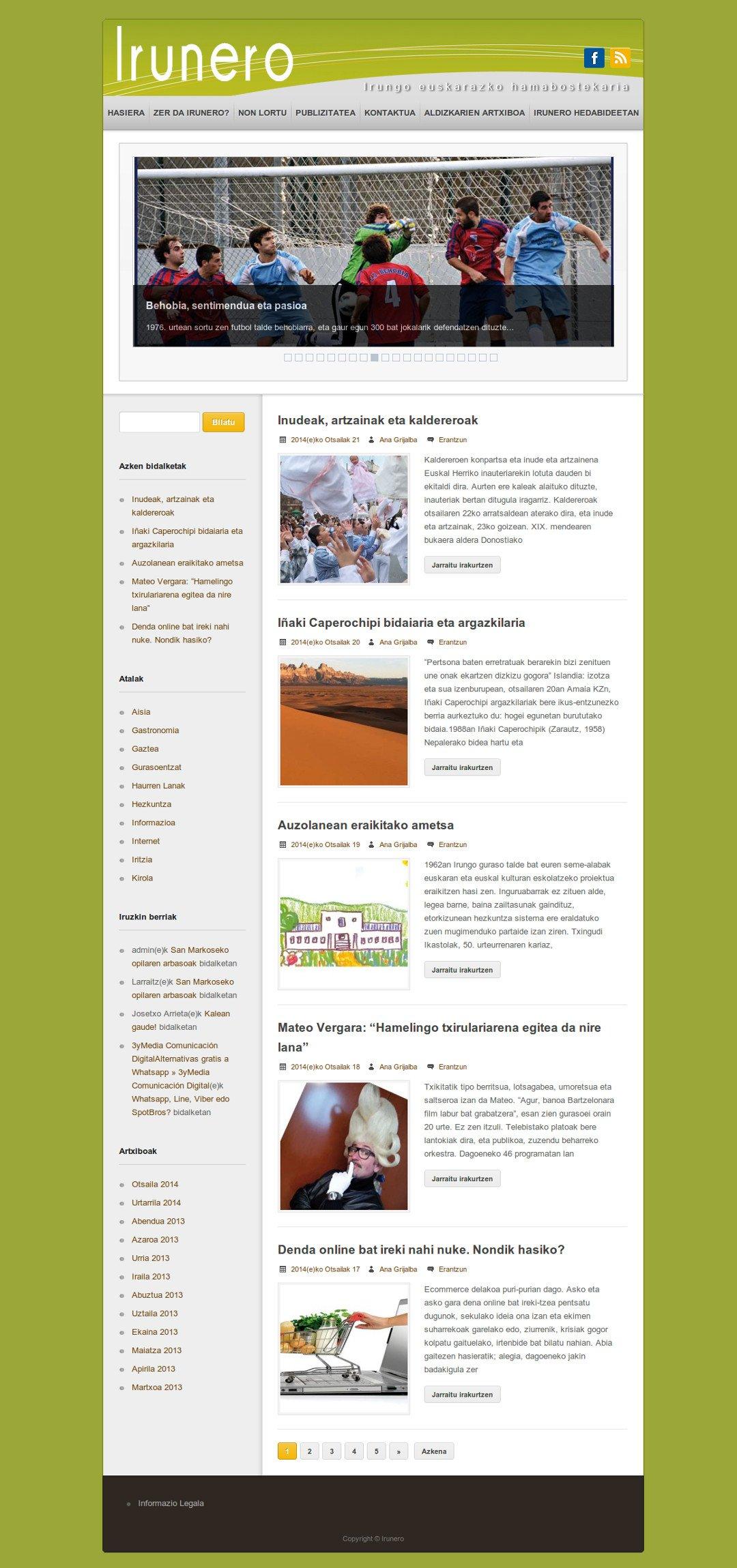 Web de Irunero