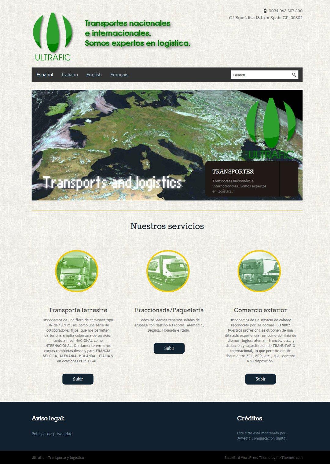 Web de Ultrafic