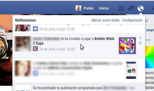 como no recibir invitaciones a juegos en Facebook 1