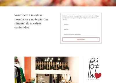 Diseño web: Ai lof llu - Blog