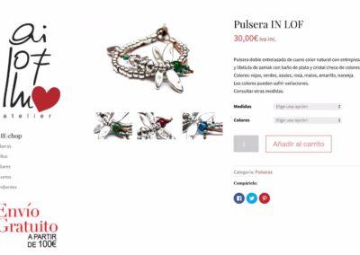 Diseño web: Ai lof llu - Ficha de producto