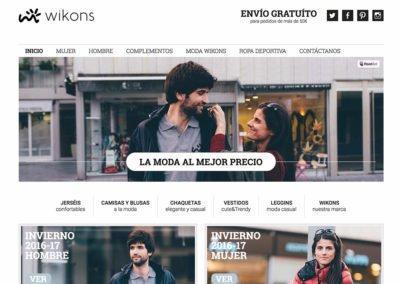 Diseño web: Wikons - detalle de la home