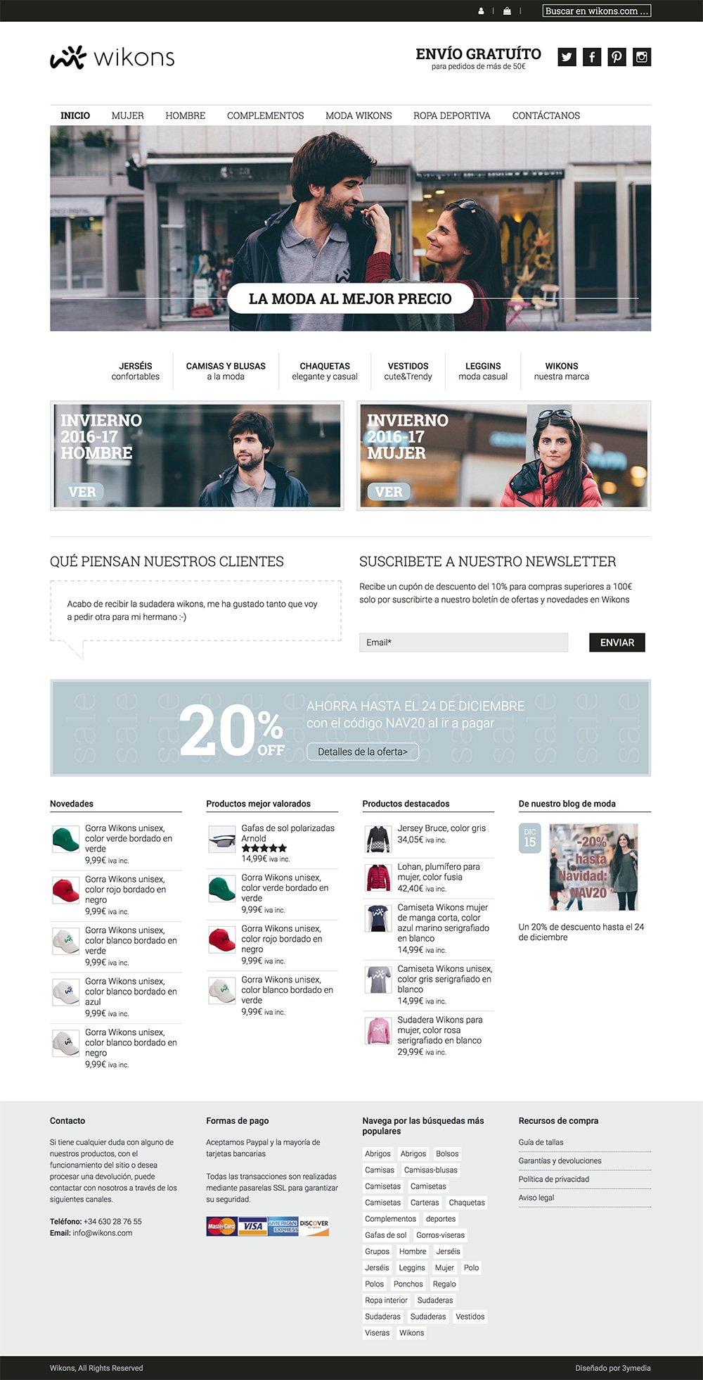 Diseño web de Wikons.com