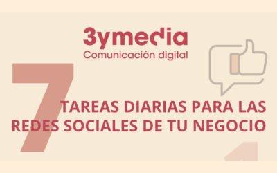 7 tareas diarias para las redes sociales de tu negocio #infografía