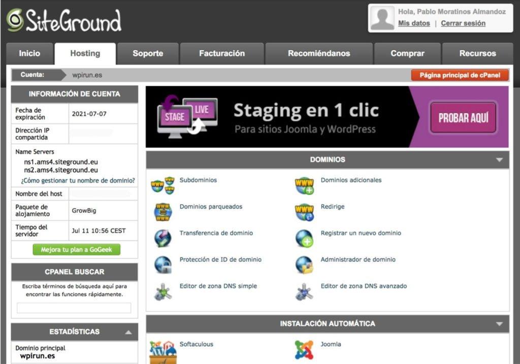 Instalación de certificado SSL Let's Encrypt en Siteground Paso 1