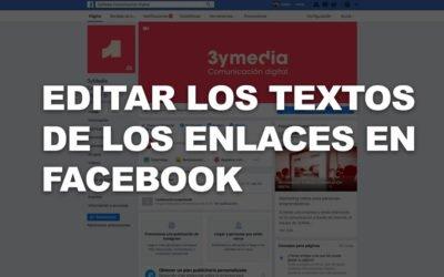 Cómo editar el texto de los enlaces en las páginas de empresa de Facebook