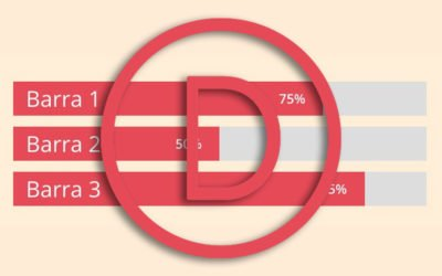 Contadores de barra de Divi: Cómo meter los títulos dentro de las barras
