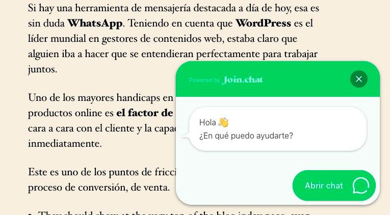 plugin de Whatsapp para WordPress