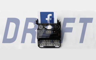 Cómo crear, guardar y recuperar los borradores de Facebook